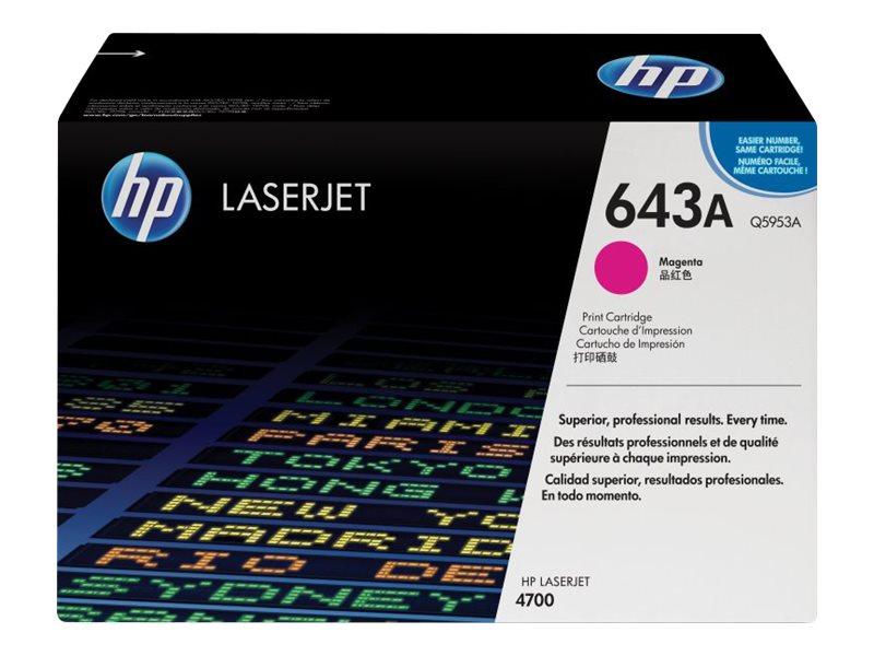 HP 643A - magenta - original - LaserJet - cartouche de toner ( Q5953A )