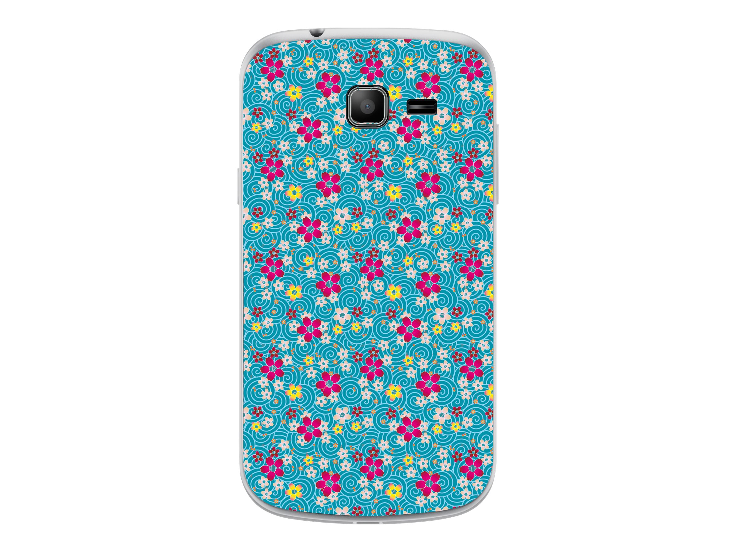 Muvit Customline Graphix Print - Coque de protection pour Samsung GALAXY Trend Lite - flower liberty transparent