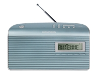 Grundig Music 7000 DAB+ DAB bærbar radio sølv, mynte