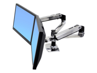 Ergotron LX Dual Side-by-Side Arm - kit de montage