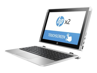 "HP x2 10-p020nr - With detachable keyboard - Atom x5 Z8350 / 1.44 GHz - Win 10 Home 64-bit - 2 GB RAM - 32 GB eMMC - 10.1"" IPS touchscreen 1280 x 800 - HD Graphics 400 - Wi-Fi - HP finish in natural silver - kbd: US - with HP Active Pen"