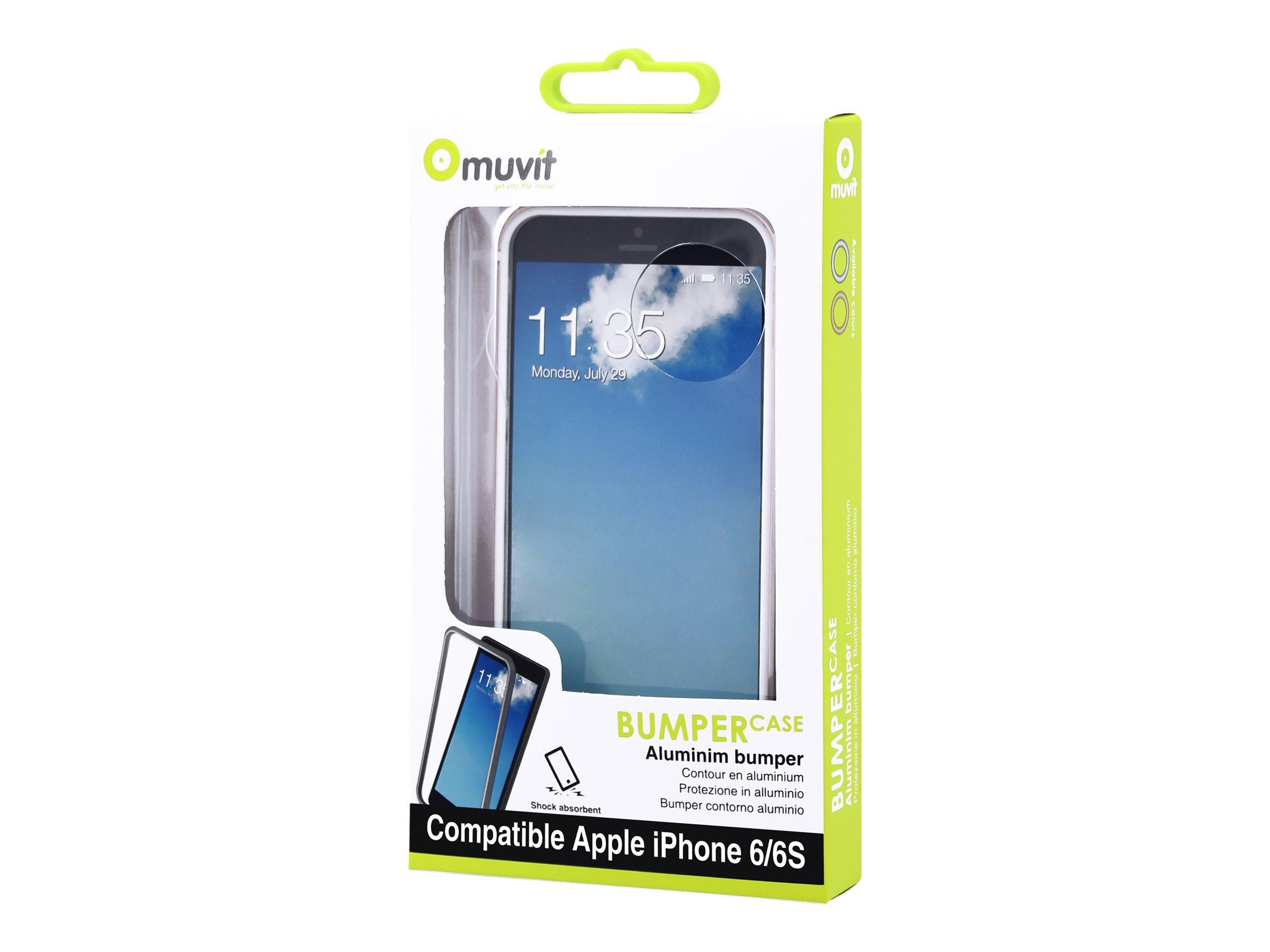 Muvit - coque pare-chocs pour iPhone 6, 6s - rosegold