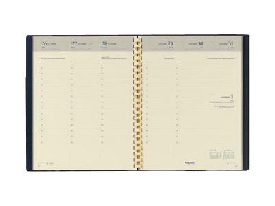 Brepols Palermo Classic Timing - Agenda - par semaine - 168 x 220 mm - papier crème - couverture marron
