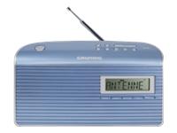 Grundig Music 7000 DAB+ DAB bærbar radio blå sølv