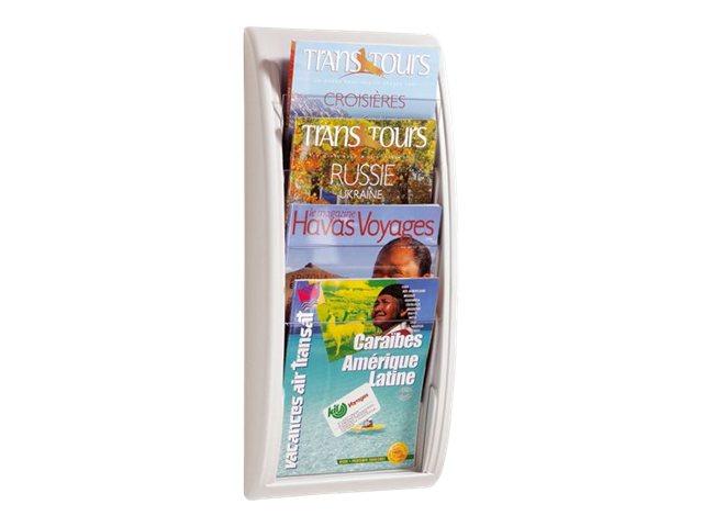 Paperflow MURAL QUICK FIT - Présentoir mural - 4 pochettes - pour A4 - gris, transparent
