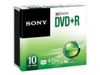 Sony 10DPR47SS - DVD+R x 10 - 4.7 Go - support de stockage