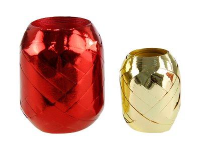 Clairefontaine Maxi - Ruban d'emballage cadeau - bolduc - 1 cm x 30 m - métallisés ou lisses assortis