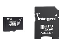 Integral Smartphone and Tablet - carte mémoire flash - 16 Go - microSDHC UHS-I