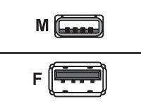 MCL Samar - Rallonge de câble USB - USB (M) pour USB (F) - 2 m - noir - Sachet