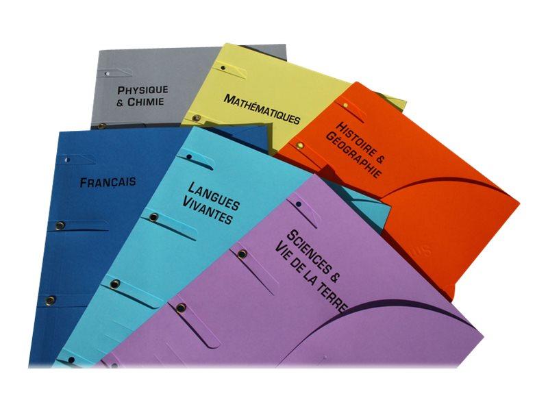 Smartfolder - Chemise à 3 rabats - différentes matières scolaires