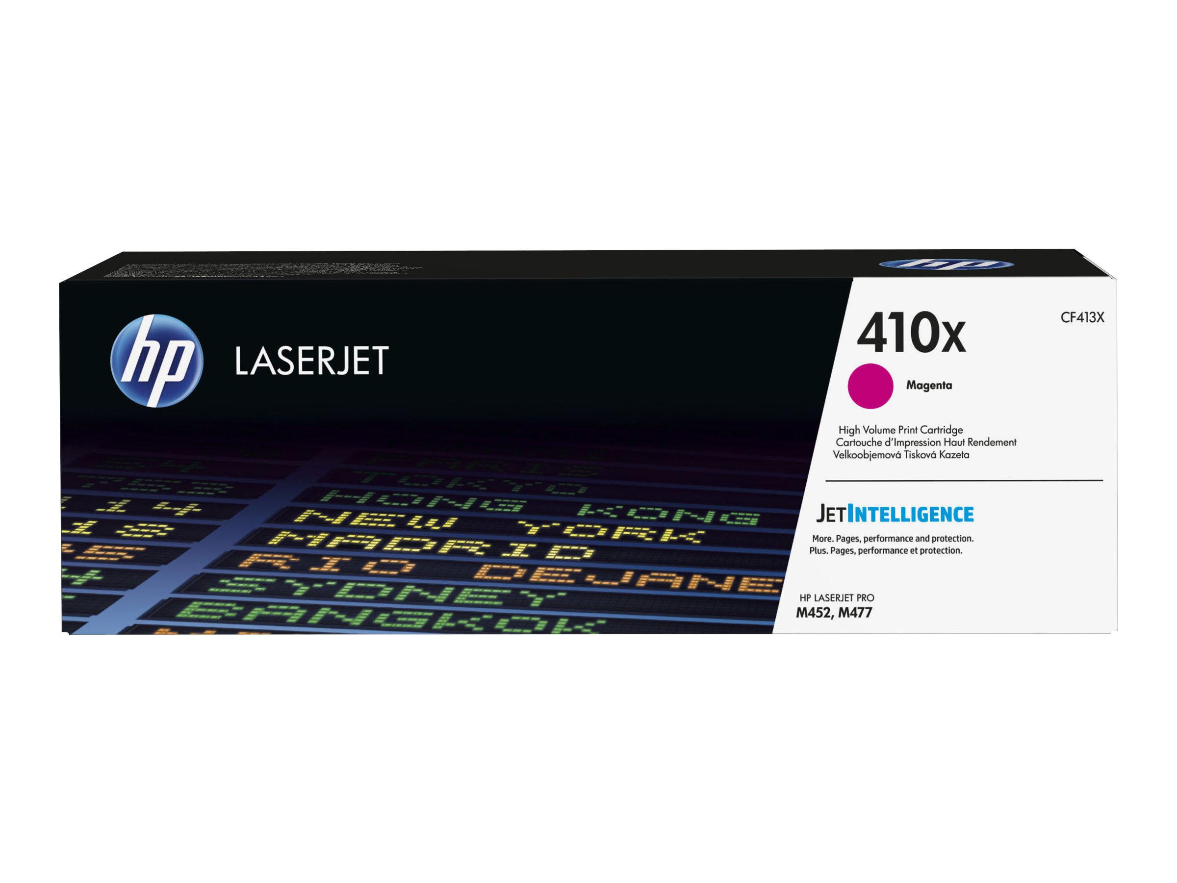 HP 410X - à rendement élevé - magenta - originale - LaserJet - cartouche de toner (CF413X)