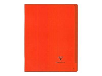 Clairefontaine Koverbook - Cahier - A4 - 21 x 29,7 cm - 48 feuilles / 96 pages - quadrillé - transparent, disponible dans différentes couleurs