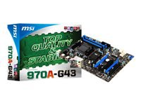 MSI 970A-G43 Bundkort ATX Socket AM3+ AMD 970 USB 3.0 Gigabit LAN