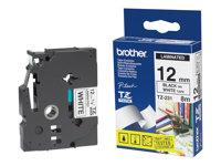Brother cinta rotuladora TZ-231 Black/White (1.2cm x 8m)