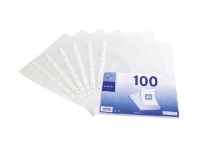 Viquel - 100 Pochettes perforées - A4 - 4/100