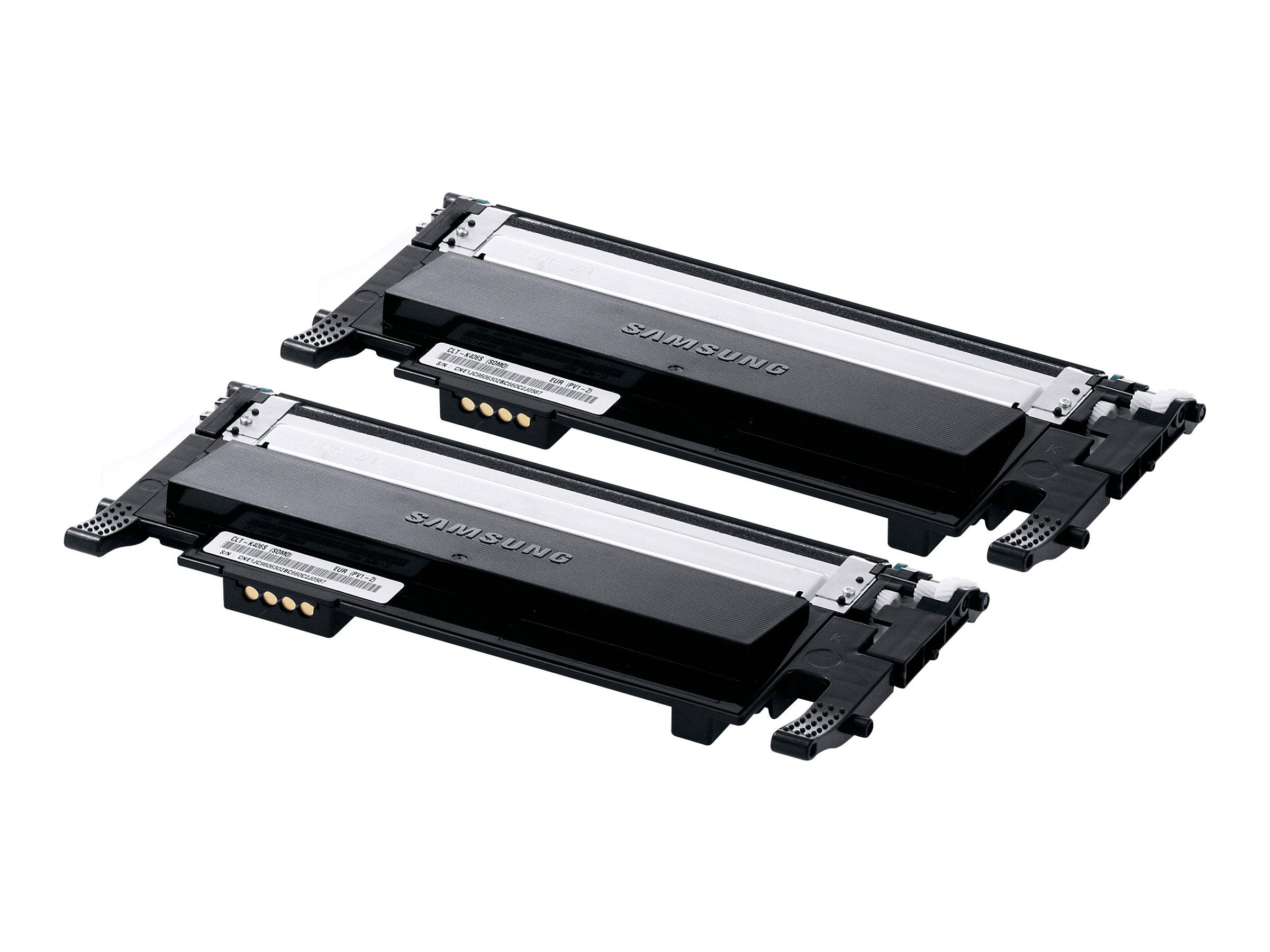 Samsung CLT-P406B - pack de 2 - noir - originale - cartouche de toner