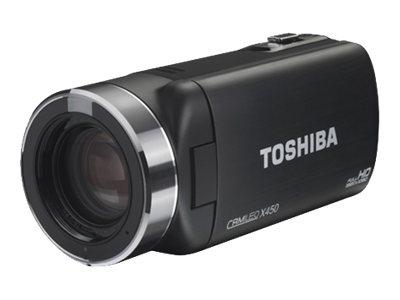 Toshiba CAMILEO X450 - Videokamera - 1080p - 8.0 MP - 23x optický zoom - karta Flash - černá
