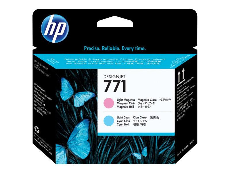 HP 771 - magenta clair, cyan clair - tête d'impression