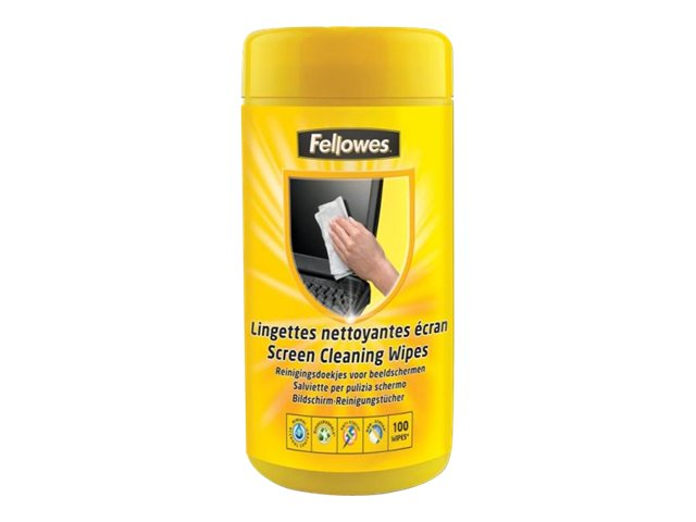 Fellowes - Kit de nettoyage pour écran - boîte de 100 lingettes écran