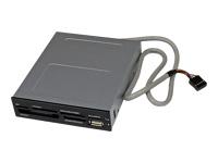 StarTech.com Lecteur de cartes memoire interne de 3,5 pouces avec port USB 2.0 - Lecteur multicartes 22-en-1 pour PC - Noir