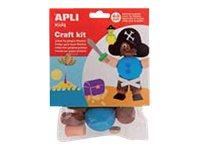 APLI kids PIRATE - kit de travaux créatifs