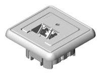 UTP zásuvka pod omítku řada UMJ 2xRJ45 kat.5E RAL9010 bílá
