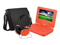 "Ematic EPD707 - DVD player - portable - display: 7"" - red"
