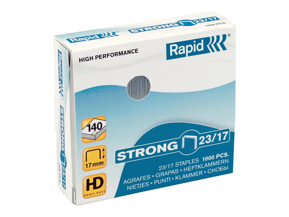 Rapid Strong - 1000 Agrafes - 23/17 - 17 mm - acier galvanisé