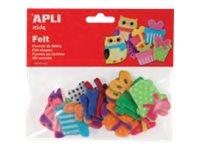 APLI kids - Forme à décorer - 18 feutrines - cadeaux