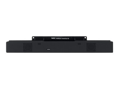 NEC MultiSync Soundbar 90 - Zvuková lišta - pro PC - černá - pro MultiSync LCD2090UXi, LCD2190UXp, P232W, P242W, PA242W, PA271W-BK, PA301W