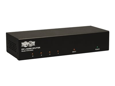 Tripp Lite 4-Port DVI Single Link Video / Audio Splitter / Booster DVIF/2xF TAA - Video/audio splitter - 4 x DVI / audio - desktop