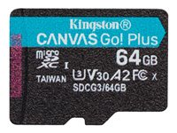 Kingston Canvas Go! Plus - Tarjeta de memoria flash - 64 GB