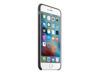 Apple - Zadní kryt pro mobilní telefon - kůže - černá - pro iPhone 6, 6s