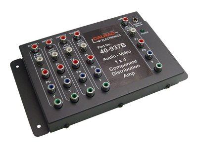 Calrad Electronics 40-937B Economic 1x4 HDTV Audio-Video Distribution Amplifier - Video/audio splitter - 4 x component video / audio
