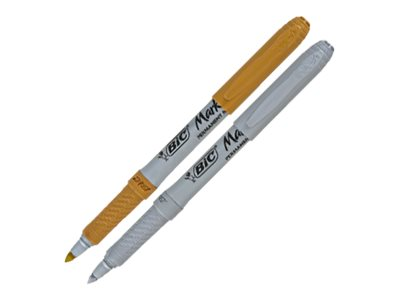 BIC Marking Color - Marqueur - permanent - Or ou Argent - 0.8 mm