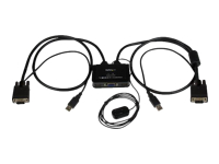 StarTech.com 2 Port USB VGA Cable KVM Switch