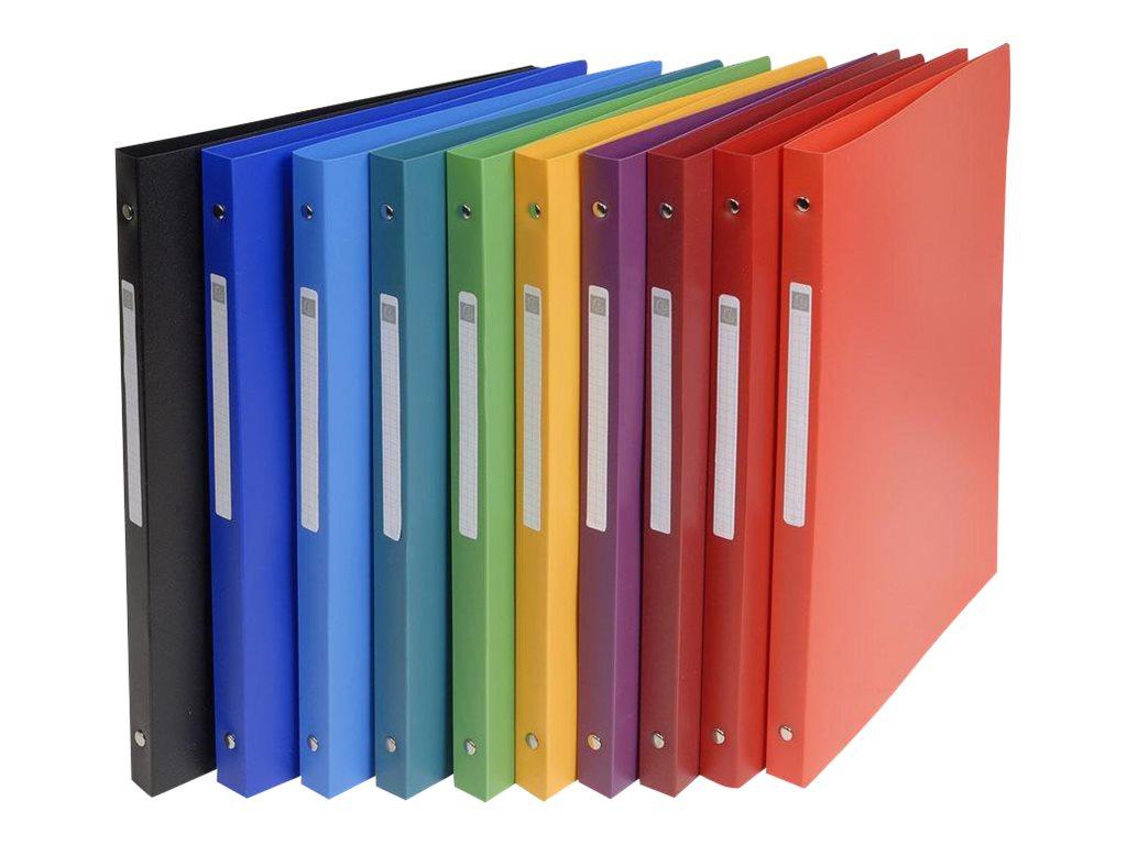 Exacompta - Classeur à anneaux - 20 mm - A4 - pour 100 feuilles - assortiment de couleurs opaques