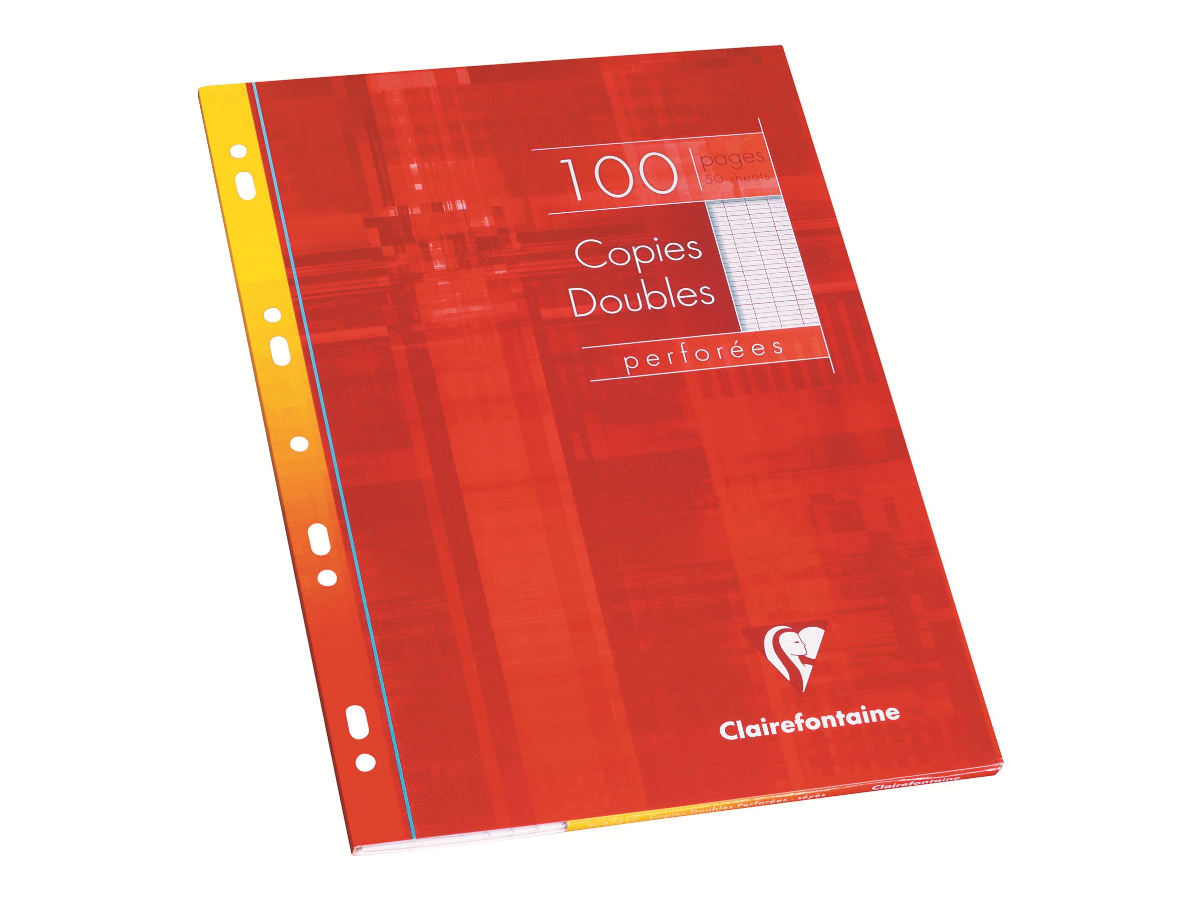 Clairefontaine - 400 Feuillets doubles - A4 - blanc - Grands carreaux