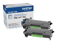 Brother TN-850 - 2-pack - High Yield - black - original - toner cartridge - for Brother HL-L5000, L5100, L5200, L6200, L6250, L6300, L6400, L6900, MFC-L5700, L6800, L6900