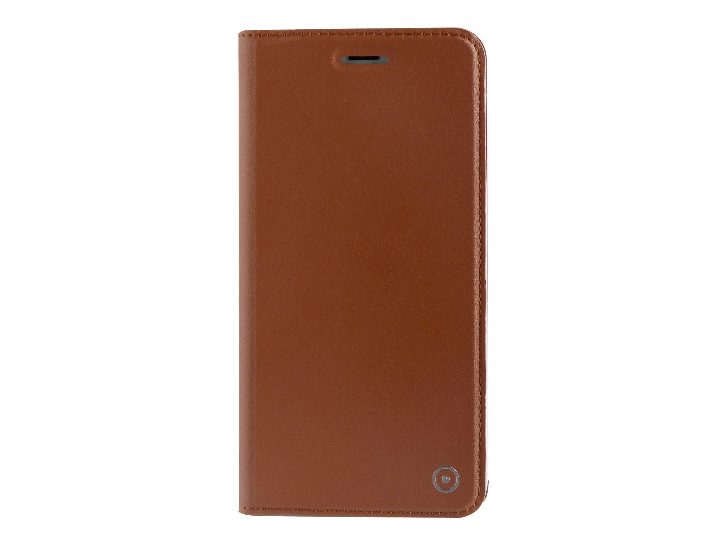 Muvit Folio Stand - Protection à rabat pour iPhone 7 Plus - brun