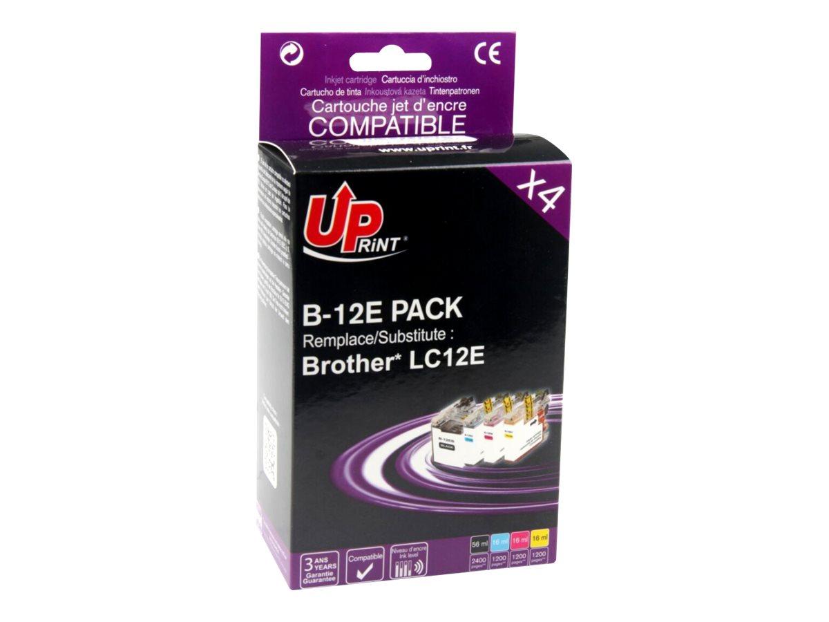 UPrint B-12E PACK - pack de 4 - noir, jaune, cyan, magenta - cartouche d'encre (équivalent à : Brother LC12BK, Brother LC12C, Brother LC12M, Brother LC12Y )
