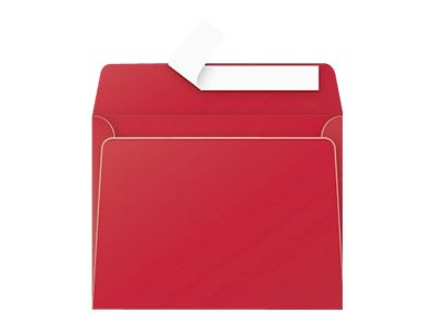 Pollen - 20 Enveloppes - 90 x 140 mm - avec bande (auto-adhésif) - imprimable - rouge intense