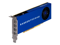 AMD Radeon Pro WX 4100 - Graphics card - Radeon Pro WX 4100 - 4 GB GDDR5 - PCIe 3.0 x16 low profile - 4 x Mini DisplayPort - promo - for Workstation Z2 G4 (MT, SFF), Z240, Z4 G4, Z6 G4, Z8 G4