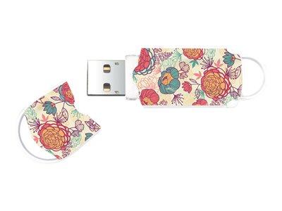 Integral Xpression Pattern Floral - Jednotka USB flash - 16 GB - USB 2.0