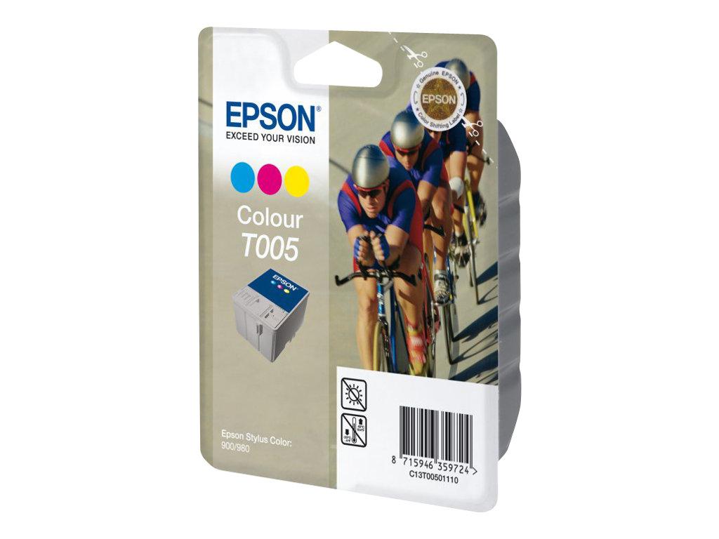 Epson T005 - cyclistes - couleur (cyan, magenta, jaune) - originale - cartouche d'encre