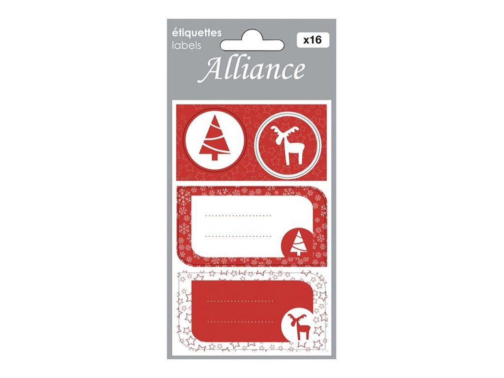 Clairefontaine Alliance - Étiquette cadeau - Noël norvégien - 4 feuilles