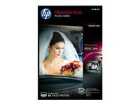 HP Premium Plus - Soft-glossy - 11.5 mil - 4 in x 6 in - 300 g/m² - 80 lbs - 100 sheet(s) photo paper - for Envy 50XX, 76XX; Officejet 52XX; PageWide Pro 477; Photosmart B110, Wireless B110