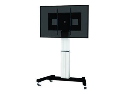 NewStar PLASMA-M2500SILVER - Vozík pro LCD / plazmový panel / multimediální přehrávač / mini PC (motorizovaný) - stříbrná - velikost obrazovky: 42