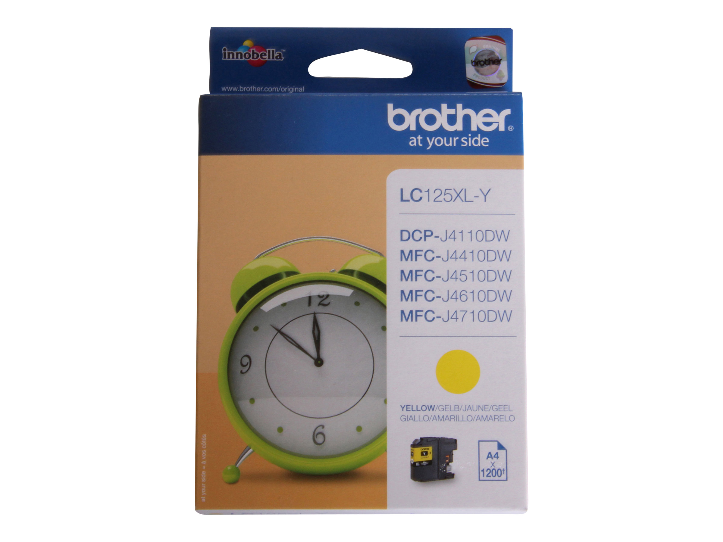 Brother LC125XLY - Super High Yield - jaune - original - cartouche d'encre