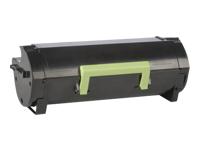 Lexmark 502H - à rendement élevé - noir - originale - cartouche de toner - LCCP, LRP